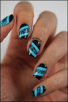 Didoline's Nails love this black & blue together...x