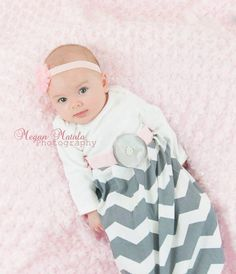 newborn infant ruffle bottom custom layette gown chevron celebrity kids infant gown pictures party pictures home girly chevron ruffle