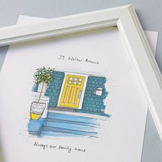 Personalised+Hand+Drawn+Front+Door+Illustration, £53.00