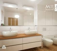 Detached house in Lublin - A large bathroom with a window, modern style - Studio image of Miliart Large Bathrooms, Other Rooms, Detached House, Bathroom Interior, Double Vanity, Home Improvement, Mirror, Modern, Furniture