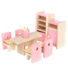 Amovo Natural Wooden Doll House Furniture (Dining Room) Amovo http://www.amazon.com/dp/B0118NGRYK/ref=cm_sw_r_pi_dp_OgMtwb1FWYMYY