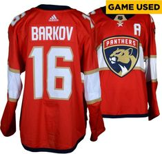 9887b3a46 Aleksander Barkov Panthers GU 16 Red Set 3 Jersey   MSD Patch - 3 10
