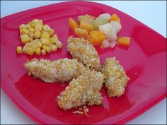 """homemade fish sticks - Sample """"daycare"""" menus - just a bunch of good ideas for the kids for lunch, etc. Lunch Snacks, Lunch Recipes, Baby Food Recipes, Healthy Recipes, Lunch Box, Daycare Meals, Kids Meals, Toddler Lunches, Toddler Fun"""