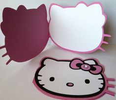 Hello Kitty Invitations or Thank You Notes by CreativePartyPapers, $25.00