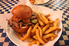 Pulled pork sandwich at the Breakfast Club - a must when staying in London!