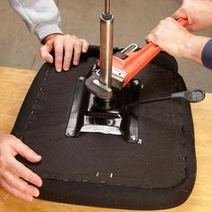 Before you throw out a good office chair because the lift or the wheels aren't working, try repairing them. All you need are a few basic hand tools and readily available parts.