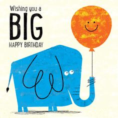 [ Title Happy Birthday Blue Elephant Client Availbe For Purchase Licensing Illustrator Steve ] - Best Free Home Design Idea & Inspiration Happy Birthday Elephant, Happy Birthday Blue, Cute Birthday Cards, Happy Birthday Pictures, Happy Birthday Messages, Happy Birthday Quotes, Happy Birthday Greetings, Birthday Greeting Cards, Happy Birthday Illustration