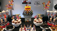 Mickey and the Roadster Racers Birthday Party Dessert Table