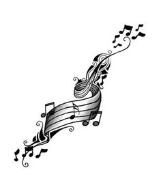 Music Tattoos Ideas For Temporary Tattoo, Tattoo Of Music Notes Music Tattoo Designs, Heart Tattoo Designs, Music Tattoos, Body Art Tattoos, Sleeve Tattoos, Tatoos, Music Designs, Tattoo Art, Hipster Tattoo