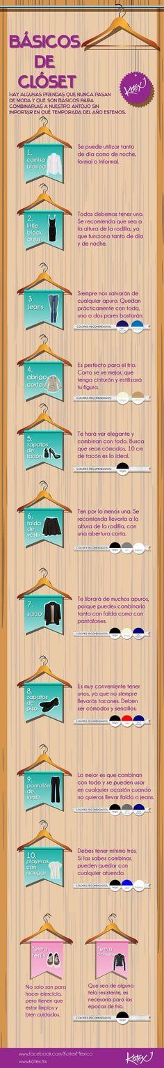 Estas son las piezas esenciales que toda mujer necesita en su closet. | 18 Guías visuales de estilo que toda mujer necesita en su vida