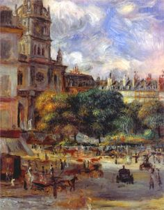 Pierre-Auguste Renoir (French 1841–1919) [Impressionism] Church of the Holy Trinity in Paris, 1892-1893.