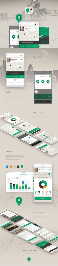 "colors on the mature side, something more ""businessy"" Mobile Web Design, Web Ui Design, App Design Inspiration, Mobile App Ui, Application Design, Apps, Interactive Design, Iphone, Wireframe"