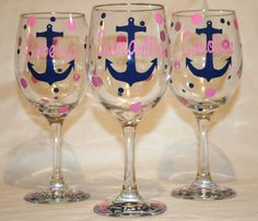 5 Personalized Nautical Themed Bride and by SweetSouthernCompany
