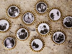 DIY Paper Fan Photo Ornaments - Whipperberry