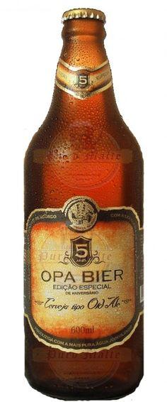Cerveja Opa Bier Old Ale, estilo Old Ale, produzida por Opa Bier, Brasil. 6.5% ABV de álcool.