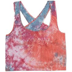 FOREVER 21 Tie-Dye Crop Top (1.625 RUB) ❤ liked on Polyvore featuring tops, crop tops, tanks, shirts, open back shirts, woven shirt, crop tank top, tie dyed shirts and crop tank