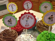 Toy Story cupcake toppers for birthday party $6 for 12
