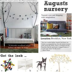 August's nursery: A natural, cozy and imaginative room for baby.