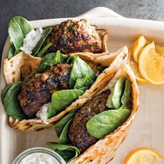 Lamb Kofta Burgers Recipe - Recipes for kofta (also known as kufta and kefta) appear in the earliest Arabic cookbooks; Lamb Recipes, Greek Recipes, Recipes Dinner, Arabic Recipes, Pasta Recipes, Lamb Burger Recipes, Dinner Ideas, Yogurt Recipes, Turkish Recipes