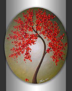 Duvar dekoru için harika modern sanat örnekleri çiçekli ağaç resimleri Palet bıçağı kullanılarak yapıldığını tahmin ediyorum :) Texture Art, Abstract Acrylic Paintings, Abstract Landscape, Landscape Paintings, Desert Landscape, Abstract Art, Mandala Painting, Dot Painting, Stone Painting