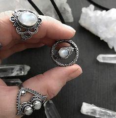 Moonstone favourites . Shop link in bio always 10% discount with code insta - - - #moonstone #moonstonering #moonstonependant #moonstonenecklace #choker #chokers #moonstones #thetravelerstone #silver #sterlingsilver #silverrings #silverring #ring #gemstone #crystals #hellaholics