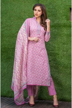 0b4160590ef Printed Mauve and Cream Cotton Salwar Suit - DAS247A Salwar Kameez