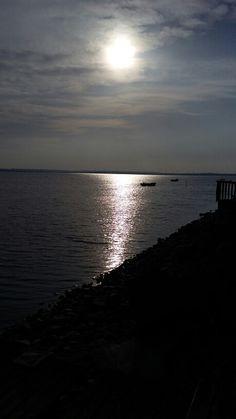 Zachód słońca na Helu.