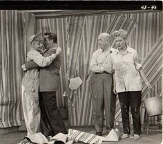 Original I Love Lucy Backstage Photo.  One of the funniest.  Redecorating.