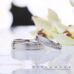 Follow @benchmarkrings to see more content!  #benchmarkretailer #benchmarkwk11  Benchmark Style #: (L to R) RECF7602S & 513549W.
