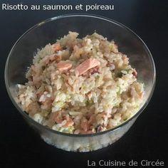 Risotto au saumon et poireau au Cookéo