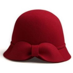 Red bow hat ($29) ❤ liked on Polyvore