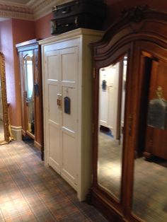 These wardrobes are all entrances to changing rooms at  clothes retailer White Stuff Edinburgh