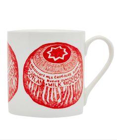 Red Tunnocks Teacake Mug Tea Cakes, Kitchen Dining, Liberty, Ceramics, Mugs, Luxury, Tableware, Fabric, Red