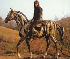 twig sculpture | others have followed her lead sculpting horses with twigs and branches ...