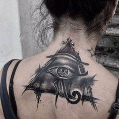 Tatuagem olho de Horus: conheça seus significados e inspire-se Egyptian Eye Tattoos, Third Eye Tattoos, All Seeing Eye Tattoo, Egyptian Tattoo Sleeve, Full Arm Tattoos, Sun Tattoos, Black Tattoos, Body Art Tattoos, Sleeve Tattoos