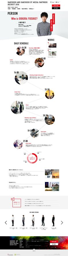 - builds context through day in life scenerios and photos Page Layout Design, Web Layout, Site Design, Timeline Design, Presentation Layout, Web Project, Ui Web, Japan Design, Website Layout