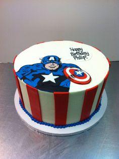 captain American cakes | Captain America birthday cake