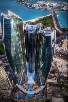 the etihad towers in abu dhabi united arab emirates