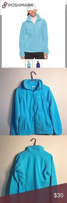 Kohls Women's Columbia Three Lakes Fleece Jacket Great condition! Only worn twice! Super pretty blue! It's a size S but could also be considered a M. Columbia Jackets & Coats Pea Coats