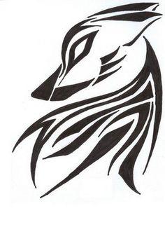 Tribal Wolf Tattoo Design Ideas ~ http://tattooeve.com/tribal-wolf-tattoos/ Tattoo Ideas