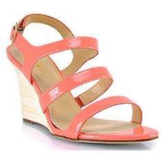 d5719348287342 Kate spade coral sandal wedge Coral Sandals