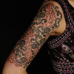paisley arm Tattoos | Paisley Tattoo. I really like this arm design with ... | Tattoos