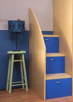 Decora con lámparas el cuarto de tus hijos. Home Depot, Filing Cabinet, Stairs, Storage, Furniture, Ideas, Fabric Lampshade, Spot Lights, Mirrors