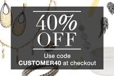 You rock! Reward yourself and shop 40% off in our Customer Appreciation Sale! Use code CUSTOMER40 at checkout to score your discount.