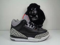 the latest ae95c 750e0 Babies Nike Air Jordan 3 Retro Black Cement Basketball Shoes size 11C 429487 -021  Nike  Athletic
