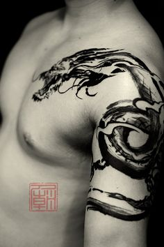 40 dragon shoulder tattoo designs for men - male ink ideas - man . - 40 Dragon Shoulder Tattoo Designs For Men – Male Ink Ideas – Man Style Dragon Tattoos For Men, Chinese Dragon Tattoos, Dragon Tattoo Designs, Tattoo Designs Men, Tattoos For Guys, Body Art Tattoos, Sleeve Tattoos, Cool Tattoos, Mens Tattoos