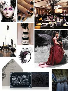 Lovely Design Girl: Halloween and Gothic Wedding Ideas