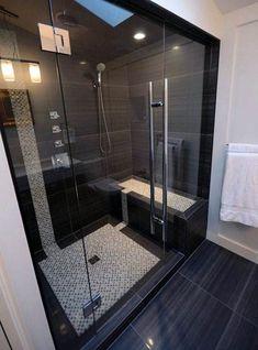 61 Best Stunning Modern Bathroom Shower Design Ideas - Page 44 of 63 Modern Bathroom Tile, Bathroom Tile Designs, Bathroom Design Luxury, Bathroom Layout, Modern Bathroom Design, Master Bathroom, Small Bathroom, Bathroom Ideas, Shower Designs
