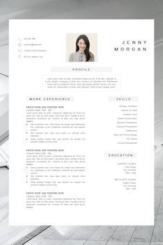 Simple Cv Template Word Resume With Photo Template Resume Minimalist Creative Resume Design Free Resume Template Resume Pages Desain Cv Desain