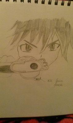I drew Train from Black Cat^^